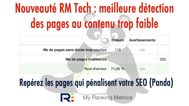 RM Tech détecte les pages au contenu trop faible
