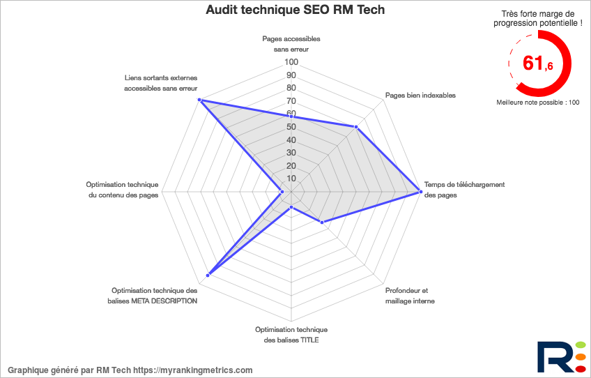 Bilan analyse SEO RM Tech (rapport audit gratuit)