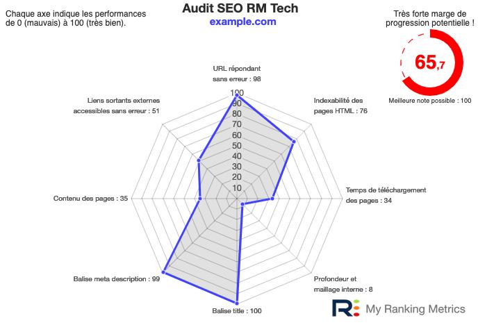 Synthèse graphique audit SEO